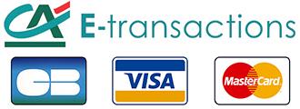 Paiement via E-Transaction, CB, Mastercard, Visa, Virement bancaire...